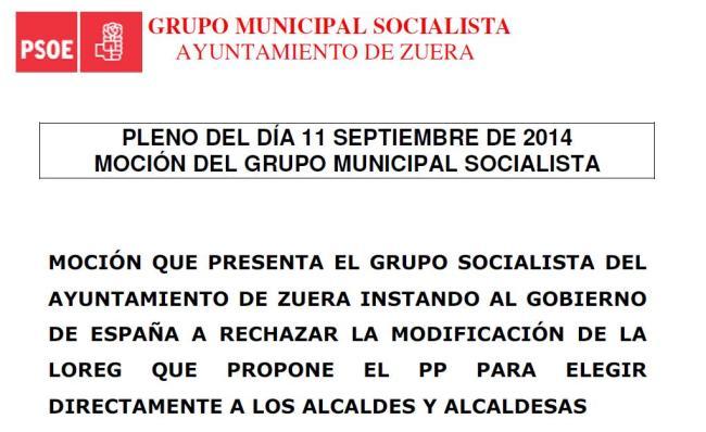 Grupo Municipal Socialista. Pleno 11 de setiembre.